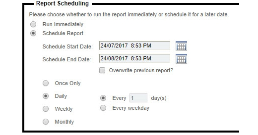 Daily Scheduling