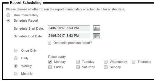 Weekly Scheduling