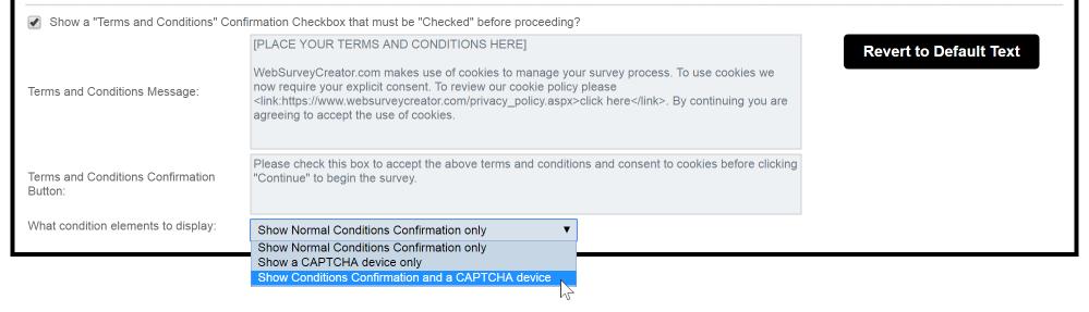 Choose a CAPTCHA option