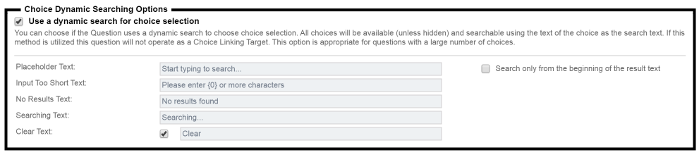 Multiple Choice, Drop Down List Searching