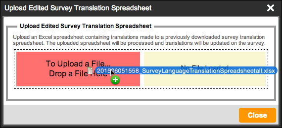Export Survey Translation Spreadsheet