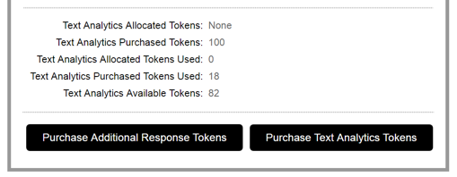 Text Analytics Tokens