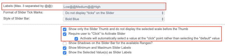 Numeric Slider Options